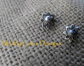 FLOWER BUD STUDS...FREE SHIPPING...