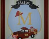 Custom Fire Truck Engine Boys Wall Art