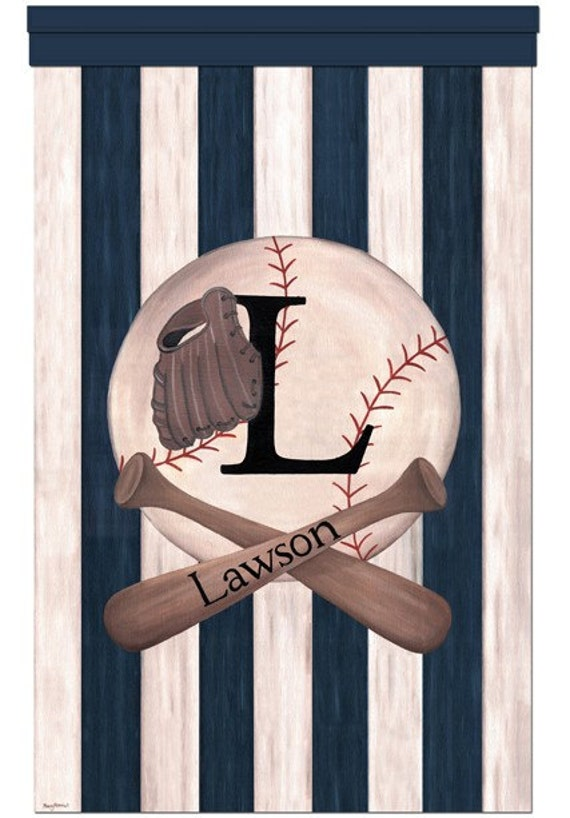 Vintage Baseball Wall Decor : Baseball vintage sports collection wall hanging blue bedroom