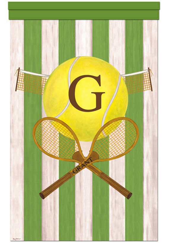 Tennis Vintage Sports Collection  Teen Boy Girl Room Wall