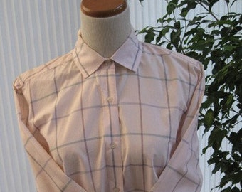 80s cotton long sleeve Hathaway ladies shirt