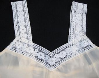Vintage lacy taffeta slip or nightie