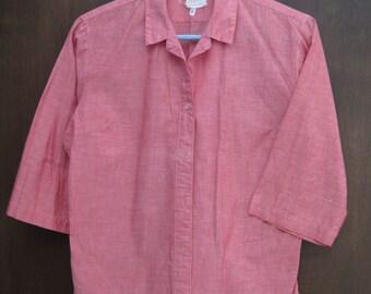 60s pink cotton Activair bouse shirt