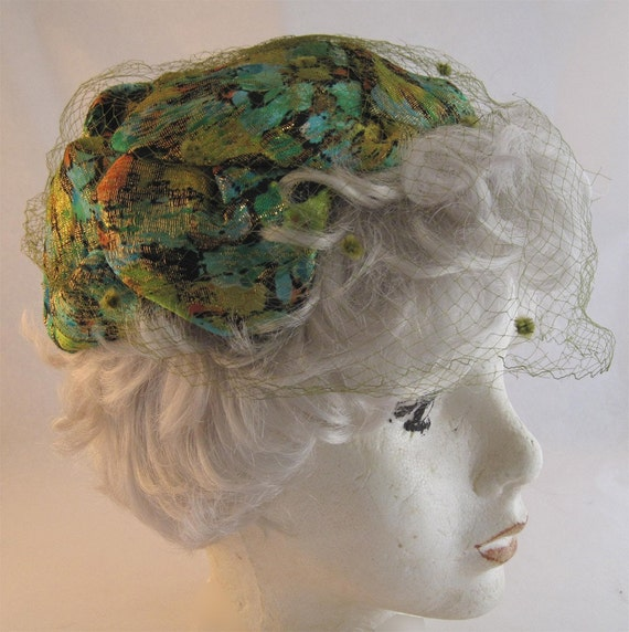 Colorful Glittery 60s Cocktail Hat