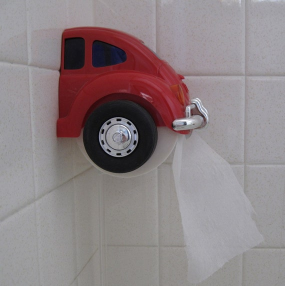 Red Vw Beetle Toilet Paper Holder From The 80s By