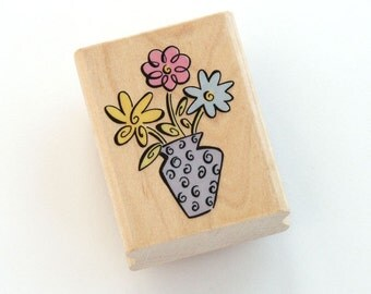 Flowers in a Vase Rubber Stamp