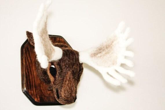 Felted Moose Head