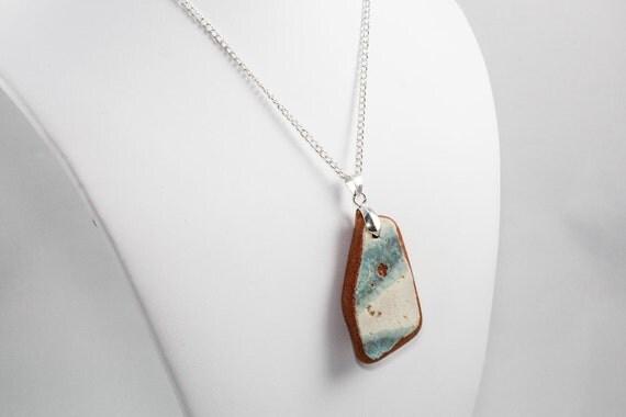 Positano Pendant Necklace (Aqua Fades to White)
