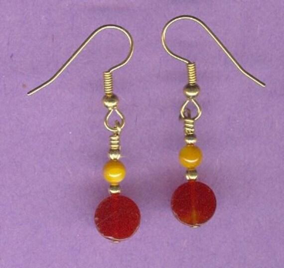 Dainty Carnelian Gemstone Earrings