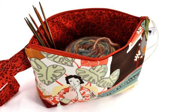 Knitting Crochet Project Bag Clutch - Matisse
