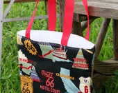 Clearance Route 66 Fully Insulated Lunch Tote  Eco- Friendly and Washable