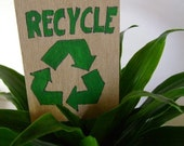 Earth Day -Recycle- ACEO- Collectible Art Card-