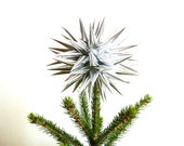 Christmas Tree Topper, Silver, Star Tree Decoration, Modern, Holiday Decor - Size Medium (8-inch) - Sterling Silver