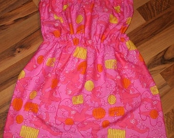 Strapless top made with Lilly Pulitzer Party animal fabric
