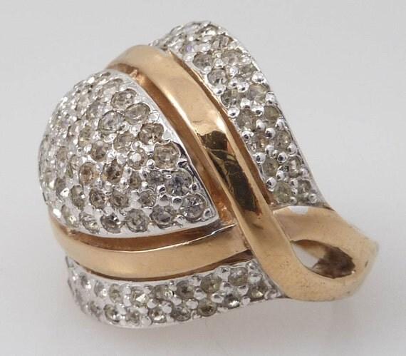 RESERVED for vintagebest  - Size 8 Signed Panetta Vintage Sterling Costume Ring
