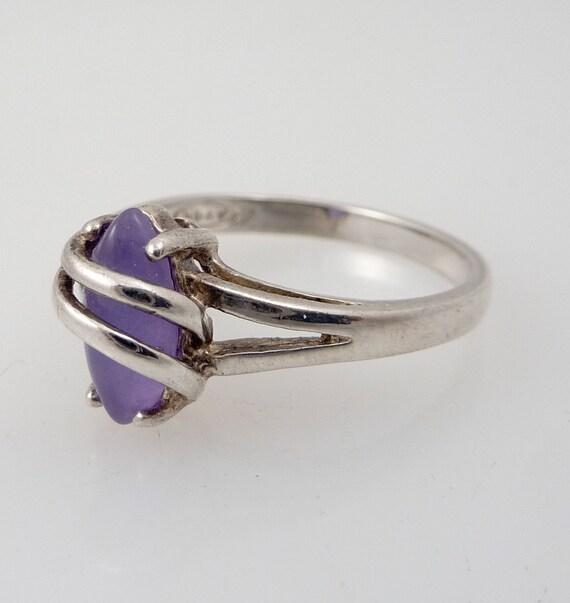 Size 7 Vintage Sterling Avon Good Judgement Amethyst Ring