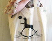 Rocking Horse Girl Tote Bag