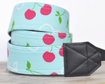 MADE TO ORDER - Camera Strap - Cherries