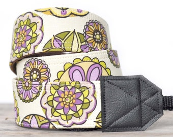 MADE TO ORDER - Camera Strap - Purple Kaleidoscope