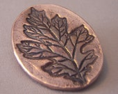 Copper Leaf Brooch