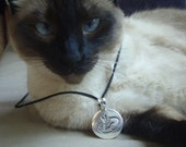 Willow's Pendant - Siamese Cat Pendant - Portion of Proceeds to Charity