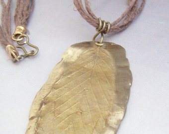 Bronze Beech Leaf Necklace