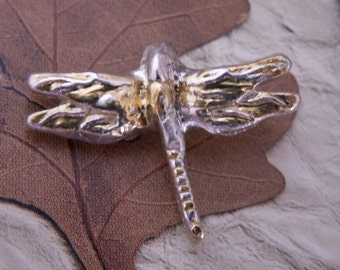 Silver and Gold Dragonfly Pin