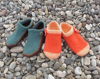 EZ 2-Needle Felted Slipper - Knitting Pattern. WM Sizes