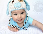 Adorable Little Puppy Hat...You Pick the Size...Photography Prop