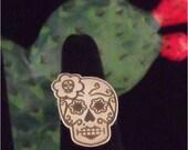 Beautiful Flower Sugar Skull Ring