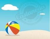 Beach Scene - clipart