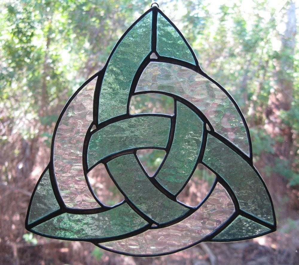 Irish Celtic Trinity Knot Stained Glass Suncatcher