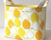 Fabric Basket Organizer Storage Bin in Alexander Henry's Citrus