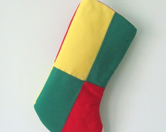 Christmas Stocking Made from Vintage Quilt Top