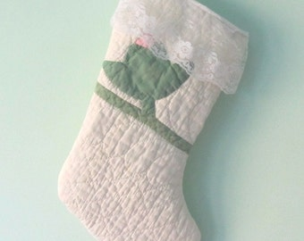 Christmas Stocking from Vintage Quilt Cottage Style