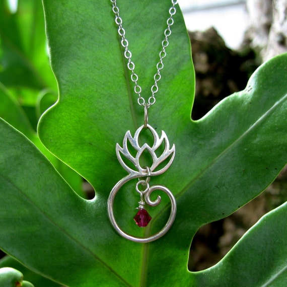Lotus blossom necklace - experience zen by wearing sterling silver lotus flower on a sterling silver chain