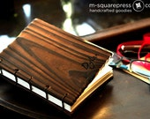 Personalized Pine Wooden Handcrafted Coptic Journal