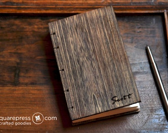 Personalized Paulownia Wooden Handcrafted Coptic Journal