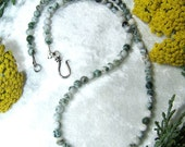 BALANCE Tree Agate Necklace with Sterling Silver Clasp