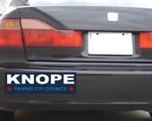 Parks & Rec Leslie Knope Political Bumper Sticker