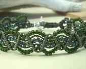 Green Micro Macrame Bracelet