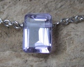 Bella Necklace in Light Amethyst Emerald-Cut