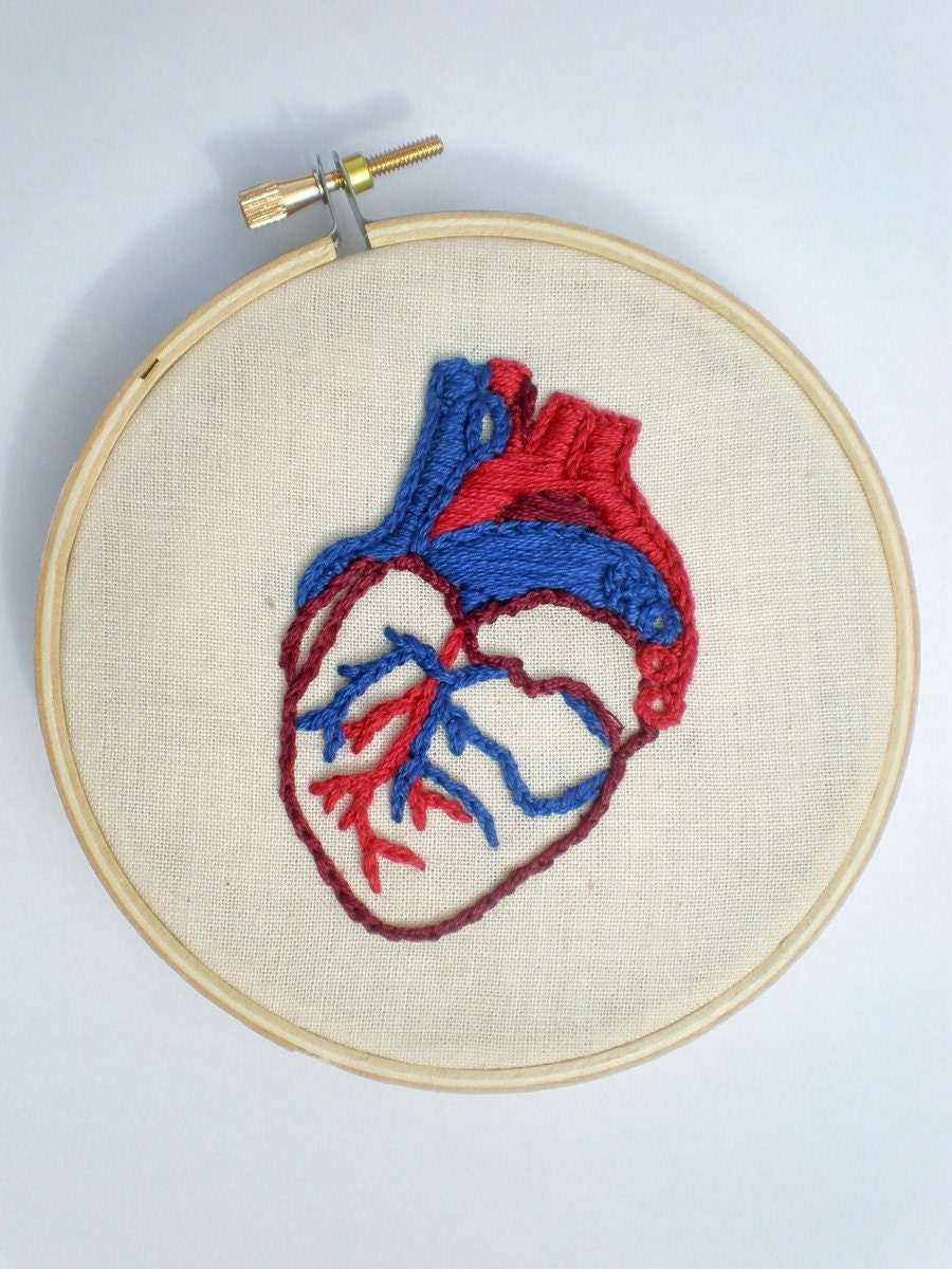 Human Heart Embroidery In Hoop Valentine Love