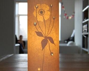 Flower Paper Table Bedside Lamp / Small / Japanese Anemone / Hannah Nunn
