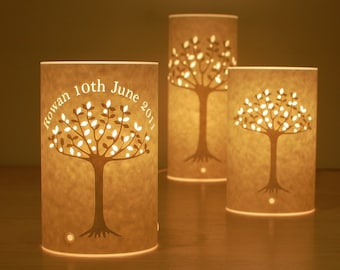 Tree of life personalised lamp