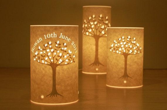 Tree of life personalised lamp