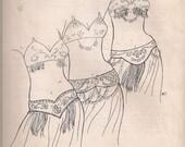 Tahia Alibeck's Bellydance Belt Patterns by Jehlor  (Vintage)