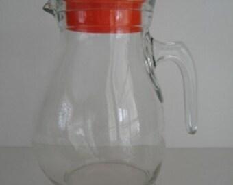 Pot Belly Glass Pitcher