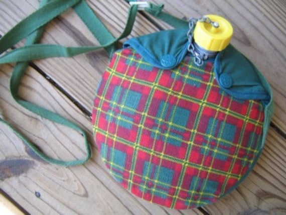 Vintage Girl Scout Cloth Covered Canteen