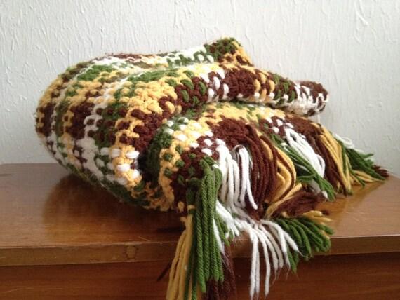 70s Knit Throw Retro Color Scheme